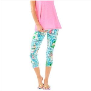 Lilly Pulitzer luxletic crops in You Gotta Regatta